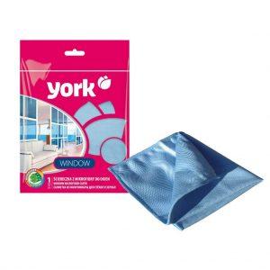 Անձեռոցիկ միկրոֆիբրայից ապակիների և հայելիների համար York 1 հատ
