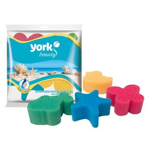 Bath sponge set York Mini 4 pcs