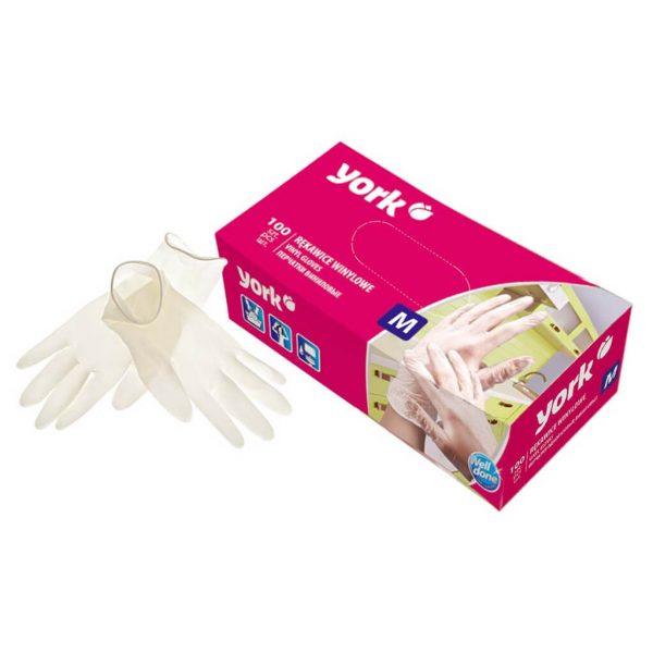 Vinyl gloves York Size M 100 pcs