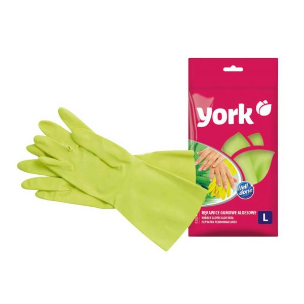 Rubber gloves York Aloe Vera size L 1 pair